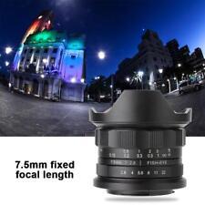 7.5mm F2.8 Grand Angle Lentille de Fisheye Manuel Objectif Pour Canon Caméra