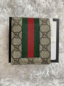 GUCCI wallet, Bi-fold Wallet Web GG Supreme Canvas Wallet (Hot Stamped JJL) Used