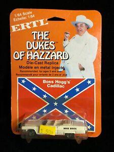 ERTL Boxed DUKES OF HAZZARD Boss Hogg Cadillac 1/64 Diecast Model Car 1981 TV