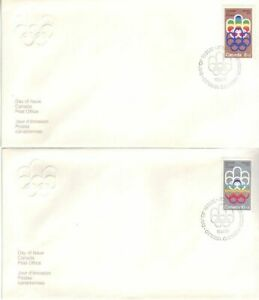 Canada - Pre-Olympics Issue, Montreal (Issue 1) (3no. CPC FDC's) 1974