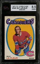 1971-72~O-PEE-CHEE~#148~GUY LAFLEUR~HOF RC~MONTREAL CANADIENS~KSA 8.5 NM-MT+