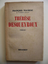 Mauriac Francois, Therese Desqueyroux, Grasset Paris FRANCE ANTIQUE BOOK rare