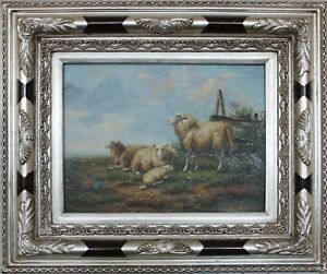 Sheep, Oil painting on wood, With/Without frame, Reproduction Artwork 1/2