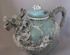Blue Sky Clayworks Ceramic Heather Goldminc Green Dragon Teapot