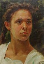 Original oil painting, Female Portrait, Odessa artist, European Fine Art, One of