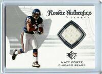 Matt Forte 2008 SP Authentic Rookie Authentics Jersey Relic RC