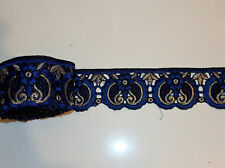 blue embroidery trimming costume ribbon festival boho applique lace