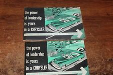 1954 CHRYSLER NEW YORKER & IMPERIAL OWNERS MANUAL GUIDE in FOLDER