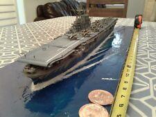 built plastic model in 1/350 scale of USS Hornet