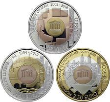 Luxemburg 3 x 2,50 Euro 2018 - 2020 PP / proof Unesco Satz