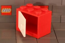 LEGO: Container Cupboard 2 x 3 x 2 (#4532 & 4533) Red/White **Two per Lot**