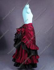 Victorian Gothic Bustle Skirt Steampunk Vampire Women Halloween Costume K034 XXL