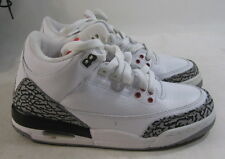 "AIR JORDAN 3 RETRO (GS) ""2011 RELEASE  398614 105  white/fire red-ceme Size 4Y"
