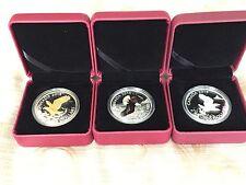 1 oz. Fine Silver 3 - Coin Set - Bald Eagle (2014)