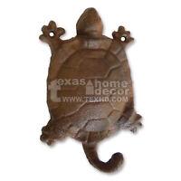 Rustic Cast Iron Turtle Wall Hook Hanger Key Holder Wall Mounted Nautical Decor