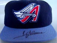 Troy Glaus autographed signed autograph Anaheim Angels game model cap hat FLEER