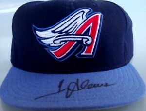 Troy Glaus autographed signed autograph Anaheim Angels game model cap hat FLEER