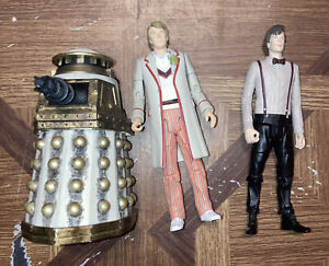 BBC Doctor Who Special Weapons Dalek Figurine 11th And 5th Doctor Lot Of 3