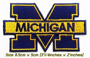Michigan Wolverines8.5cm College NCAA Patch Logo Embroidery Iron,Sewing on cloth