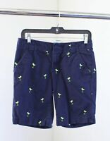 Lilly Pulitzer Navy Blue Martini Embroidered Printed Shorts Novelty Size 2