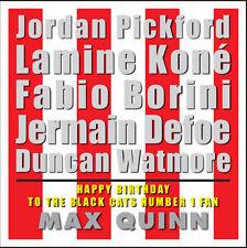 Sunderland AFC Personalizzato Compleanno Card-Tipografia