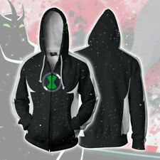 Ben 10 Alien X Hoodie Cosplay Jacket Casual Sweatshirt Full-Zip Hooded Coat