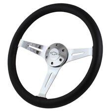 "15"" Steering Wheel 1967-1968 Chevy II/Nova Beautiful Chrome & Black Leather"