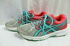 ASICS GEL CONTEND 3 WOMEN ATHLETIC SHOES SIZE 8.5 B MULTICOLOR LEATHER/FABRIC UP