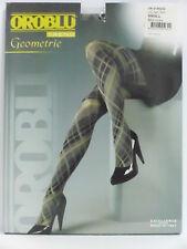"Oroblu ""Geometrie"" blickdichte Modestrumpfhose mid Grey Gr. M=40-42"
