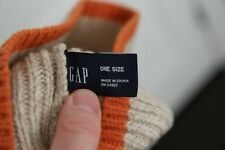 Gap men's hat, beige and organe, 100% wool