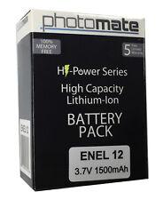 EN-EL12 Lithium Ion Battery 1500mAh for Nikon CoolPix S9900 S9700 S9500