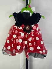 Red Minnie Mouse Deluxe Disney Baby TODDLER Costume Dress up  12 to 18 months