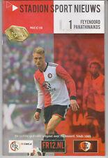 Programma / Programme Feyenoord Rotterdam v Panathinaikos 17-07-2019