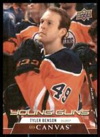 2020-21 UD Series 1 Canvas Young Guns #C113 Tyler Benson RC - Edmonton Oilers