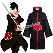 Anime NARUTO Cosplay Costume Akatsuki Ninja Wind Coat Cloak Halloween XXL