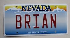 "NEVADA VANITY LICENSE PLATE   "" BRIAN "" BRYAN BRAIN FART  BRI BRY"