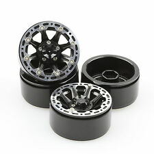"ALIENTAC Four(4) 1.9"" Wide 1"" Alloy Beadlock Wheel Rim for 1/10 RC Model #005"