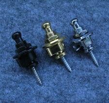 6pcs/lot Metal Anti-slip Guitar Strap Locks Knobs Round Head Gold Silver Black