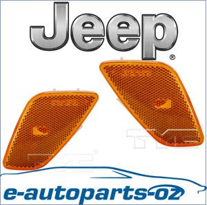 2x Jeep Wrangler Indicator Light Lens Front Guard/Flare Quarter Panel 1997-2005