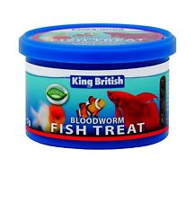 KING BRITISH BLOODWORM 7g FREEZE DRIED WORM FISH TURTLE TERRAPIN AQUARIUM TANK