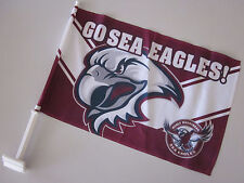 YOU GET 4 for $40 MANLY SEA EAGLES CAR FLAGS 45 x 30cm NEW NRL