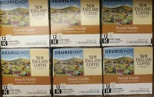 New England Coffee French Vanilla Medium Roast 72 K-Cup Pods *Best by 1/2017
