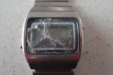 Vintage 1979 Seiko F039-5020 Digital LCD Quartz Stainless Steel Wristwatch