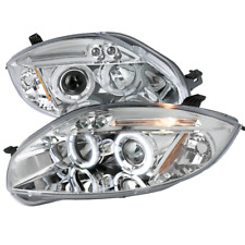 Fits 2006-2011 Mitsubishi Eclipse Led Drl Dual Halo Projector Headlights