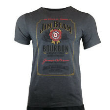 Men's T-Shirt Whiskey-JIM BEAM BOURBON-WHISKEY LABEL-40% Alcohol -Size Large NEW