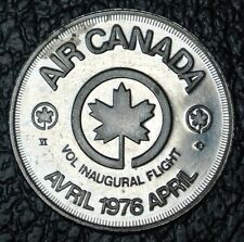 1976 AIR CANADA VOL INAUGURAL FLIGHT TOKEN - 25th Anniversary Paris - Montreal