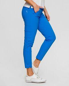 NWT Chervo Ladies Sewell 7/8 Golf Pants 63019 543 Blue Sz 6 8 ITA 42 44 NEW