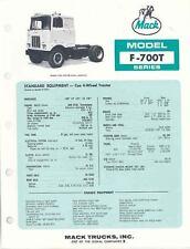 1972 Mack Model F700T Series Truck Brochure t5025-3QWMPT