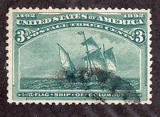 US # 232 (1893) 3c - Grade:VF/ XF - Columbian  'Flag Ship of Columbus'