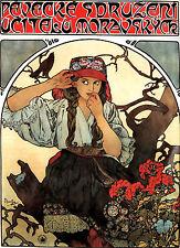 Alfons Alphonse Mucha a3 POSTER dimensioni Moravia GLI INSEGNANTI Art Nouveau Stampa & Free